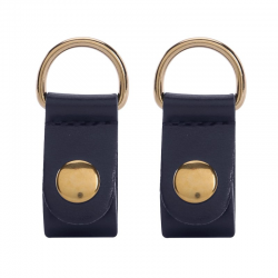 Clips O BAG Ecopiel Oro Blu Navy