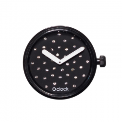 Reloj O BAG O CLOCK Cristal Nero