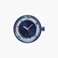 Reloj O BAG O CLOCK Shiny Cristals Blu Navy