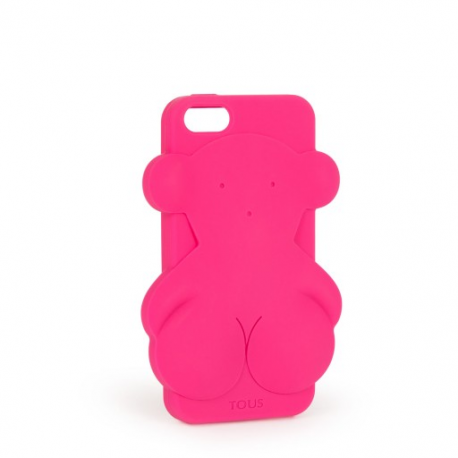Funda Móvil TOUS RUBBER BEAR Iphone 5 Fucsia